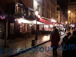 Вечерние улочки Парижа